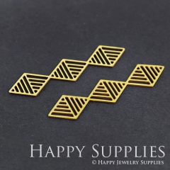 6pcs Raw Brass Geometry Charm Pendant Fit For Necklace Earring Brooch RD250