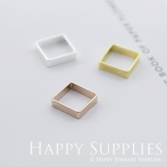 10pcs Square Geometry Pendant Charms Connector