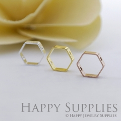 10pcs Hexagon Pendant Charms Connector with a Two Hole