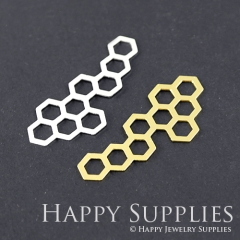 1pcs Geometry Honeycomb Brass Charm Pendant Fit For Necklace Earring Brooch GDSD128