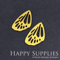 8pcs Raw Brass Butterfly Wing Charm Pendant Fit For Necklace Earring Brooch RD258
