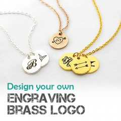 Design You Own Engraving Brass Logo Disc Service - Wholesale Available