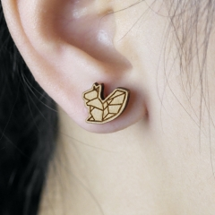 4pcs DIY Laser Cut Wooden Earring Squirrel Charms SMN37