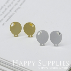 1pair Balloon Golden Silver Rose Golden Brass Earring Post Finding With Ear Studs Back Stoppers ZEN076