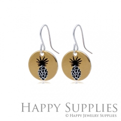 6pcs Pineapple 925 Silver Plated Brass Charm Earring Necklace SY189