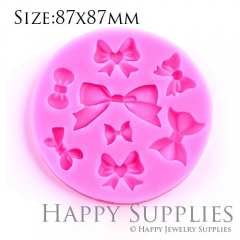 1 Set Silicone Mold For Bows Cake Decoration Bow Mould Different Shapes DIY Resin Bows BM037