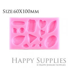 1 Set Silicone Mold For Beads Different Shapes DIY Resin Bead BM041