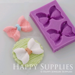 1 pcs 91x59mm Silicone Mold For Bow Cake Decoration Bow Mould DIY Resin Bow BM029