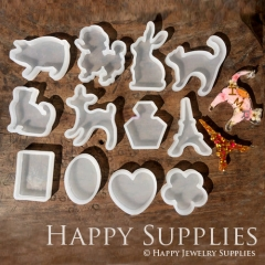 1 pc Silicone Mold For Animal More Animals For Choosing DIY Resin Animal Charm BM034
