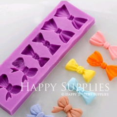 1 Pcs Silicone Mold For Bow Cake Decoration Bow Mould DIY Resin Bow BM030