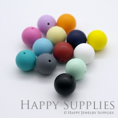 20pcs 12mm Round Colorful Silicone Beads SP005