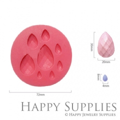 1 Set Silicone Mold For Teardrop Cube Bead 20X30MM 4X8MM Teardrop Beads DIY Resin Teardrop BM058