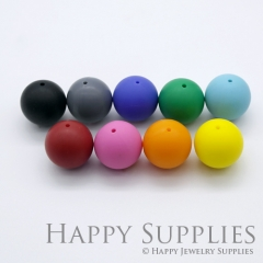 20pcs 15mm Round Colorful Silicone Beads SP006