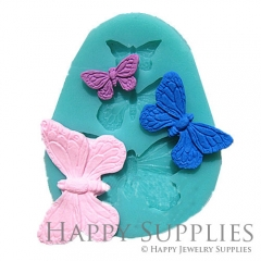1 Set Silicone Mold For Butterfly Cube Bead 3 Sizes Butterfly DIY Resin Butterfly BM062