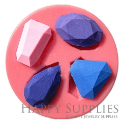 1 Set Silicone Mold For Gem Diamond Cube Bead 18X30mm Geometric Beads DIY Resin Gem Diamond BM057