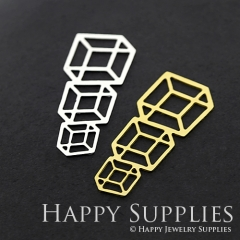 1pcs Geometry Brass Charm Pendant Fit For Necklace Earring Brooch GDSD280