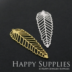 1pcs Leaf Brass Charm Pendant Fit For Necklace Earring Brooch GDSD281