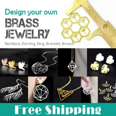 Free Shipping - Design You Own Brass Pendant Jewelry Service (Mini Order 100pcs each Design)
