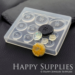 1 Set Silicone Mold For Button 10 mm 12mm 15mm 20mm 25mm Different Size Button DIY Resin Button BM062