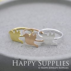 2Pcs Bird Rose Gold Silver Golden Brass Ring RB003