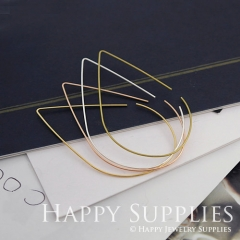 20pcs 45x25mm droplets Rose Gold Silver Golden Plated Brass Hoop Earrings HE162