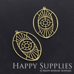 4pcs Raw Brass Eye Geometry Charm Pendant Fit For Necklace Earring Brooch RD315
