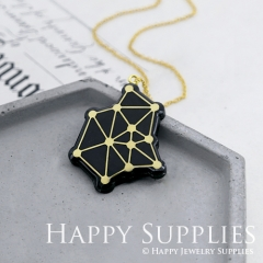 2pc Geometry Handmade Contemporary Vinyl Record Resin Jewelry Pendant or Charm AM020