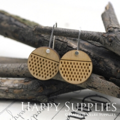 2pcs Laser Cut Wooden Dangle Earrings - HEW Series (HEW08)