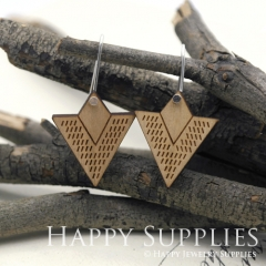 2pcs Laser Cut Wooden Dangle Earrings - HEW Series (HEW12)
