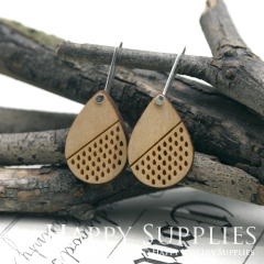 2pcs Laser Cut Wooden Dangle Earrings - HEW Series (HEW09)