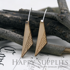 2pcs Laser Cut Wooden Dangle Earrings - HEW Series (HEW22)
