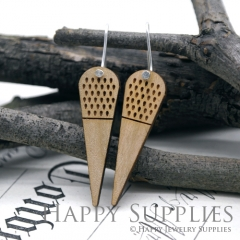 2pcs Laser Cut Wooden Dangle Earrings - HEW Series (HEW21)
