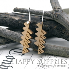 2pcs Laser Cut Wooden Dangle Earrings - HEW Series (HEW25)