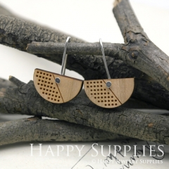 2pcs Laser Cut Wooden Dangle Earrings - HEW Series (HEW28)
