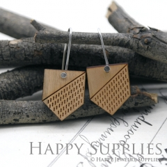 2pcs Laser Cut Wooden Dangle Earrings - HEW Series (HEW27)
