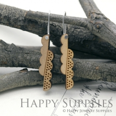 2pcs Laser Cut Wooden Dangle Earrings - HEW Series (HEW24)