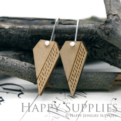 2pcs Laser Cut Wooden Dangle Earrings - HEW Series (HEW20)