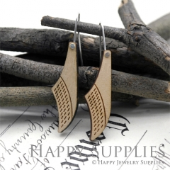 2pcs Laser Cut Wooden Dangle Earrings - HEW Series (HEW14)