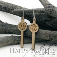 2pcs Laser Cut Wooden Dangle Earrings - HEW Series (HEW17)