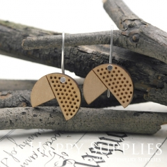 2pcs Laser Cut Wooden Dangle Earrings - HEW Series (HEW23)