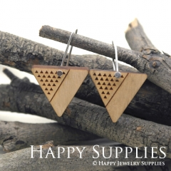 2pcs Laser Cut Wooden Dangle Earrings - HEW Series (HEW26)