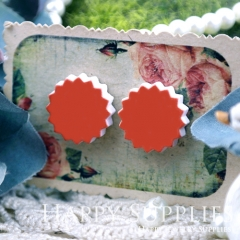10Pcs 17.5mm Red Explosion Handmade Photo Wood Cut Cabochon WD25