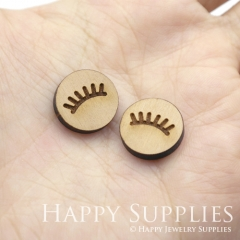 4pcs DIY Laser Cut Wooden eye Charms SWC259