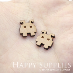 4pcs DIY Laser Cut Wooden Robot Charms SWC247