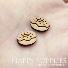 4pcs DIY Laser Cut Wooden Doughnut Charms SWC245