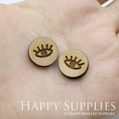 4pcs DIY Laser Cut Wooden Eye Charms SWC258