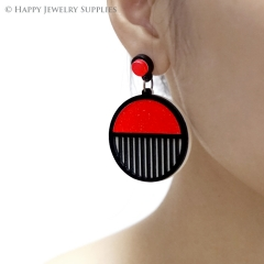 2pcs (1 Pairs) Laser Cut Acrylic Bohemia Geometry Earring Jewelry AGE02