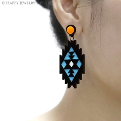 2pcs (1 Pairs) Laser Cut Acrylic Bohemia Geometry Earring Jewelry AGE01