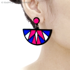 2pcs (1 Pairs) Laser Cut Acrylic Bohemia Geometry Earring Jewelry AGE04