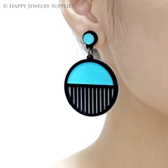 2pcs (1 Pairs) Laser Cut Acrylic Bohemia Geometry Earring Jewelry AGE03